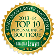 Top personal injury law firm seal for 2013 2014