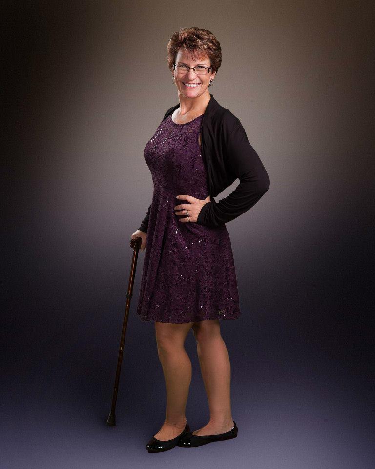 Tammy with cane
