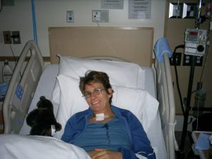 Tammy awake in the hospital