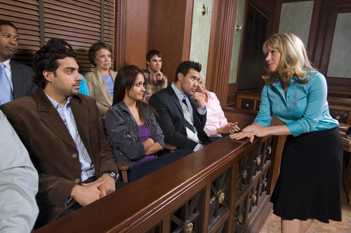 image of jurors in a courtroom