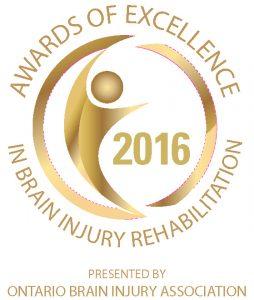 2016 awards of excellence in brain injury rehabilitation logo