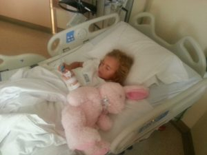 Zoe in hospital