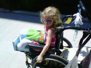 Zoe in wheelchair