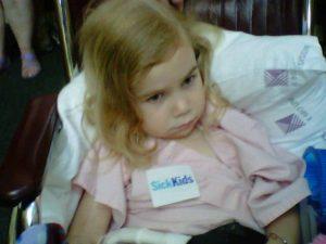 Zoe at Sick Kids Hospital