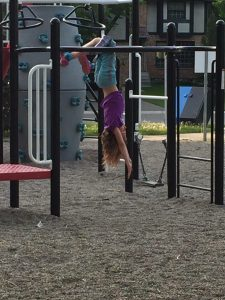 Zoe playing at the park