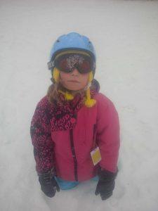 Zoe skiing