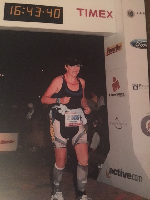 Anne Marie Gariepy running in the Iron Man Race