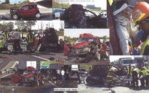 Photos of car accident