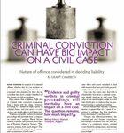 criminal conviction can have a big impact on a civil case thumbnail
