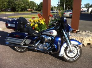 Harley Davidson Motorcycle called Electric Blue