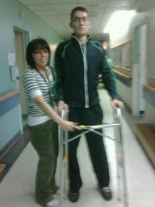 Image of Nicholas Morihovitis with Eli Roche of Toronto Rehabilitation Institute