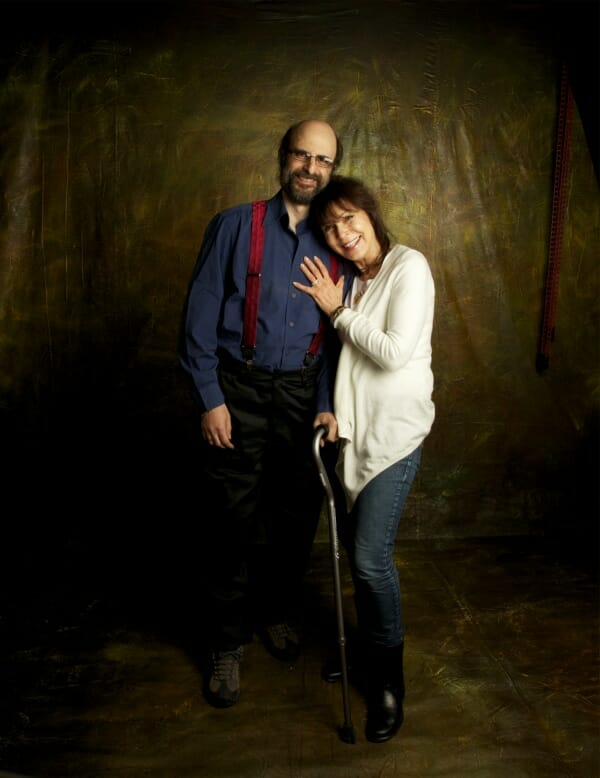Image of Alan with his ONE cane & Ruth, November 2011. Photo by Trina Koster Photography