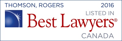Best Lawyer in Canada - Thomson Rogers 2016