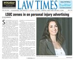 Deanna Gilbert on the cover of Law Times June 2016 Issue thumbnail
