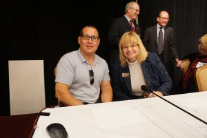 Anthony Aquan-Assee and Ruth Wilcock from Ontario Brain Injury Association