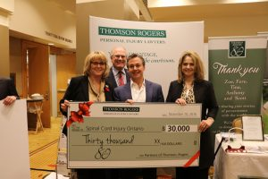 Thomson Rogers 80th Anniversary Charitable Giveaway - Jackie Bloom, Alan Farrer, Sloan Mandel and Tina Manousos