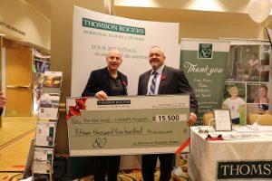 Thomson Rogers 80th Anniversary Charitable Giveaway - Joseph Pileggi and Rob Larman (War Amps)