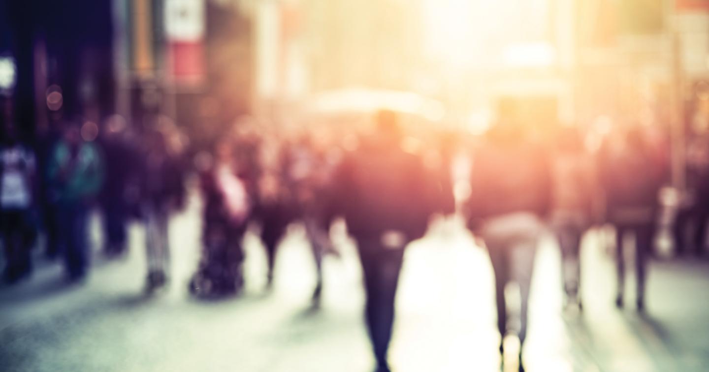 pedestrians walking on the street