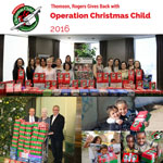 Thomson Rogers gives back with Operation Christmas Child 2016