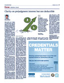 Clarity on prejudgment interest but not deductible by personal injury lawyer Darcy Merkur