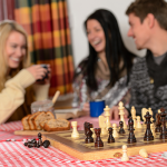 Friends Playing Board Game