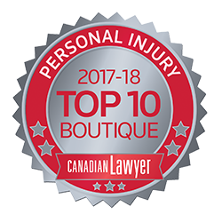 Top 10 Personal Injury Boutique Seal 2017-2018
