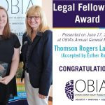 Ester Roche Accepts Legal Fellowship Award