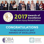 Winners of the 2017 Awards of Excellence in Brain Injury Rehabilitation